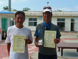 第8回福島オープンベテランテニス選手権大会男子シングルス60歳以上入賞者