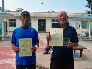 第8回福島オープンベテランテニス選手権大会男子シングルス65歳以上入賞者