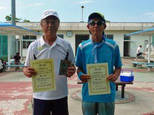 第8回福島オープンベテランテニス選手権大会男子シングルス70歳以上入賞者