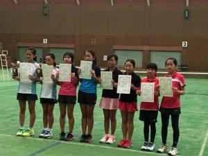 第31回福島県秋季小学生テニス選手権大会女子ダブルス入賞者