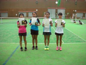 第31回福島県秋季小学生テニス選手権大会女子シングルス入賞者
