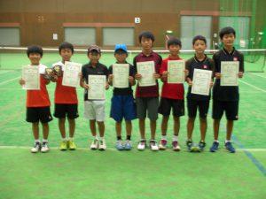第31回福島県秋季小学生テニス選手権大会男子ダブルス入賞者