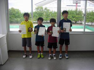 第31回福島県秋季小学生テニス選手権大会男子シングルス入賞者