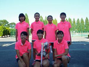 第31回福島県秋季中学生テニス選手権大会女子団体の部優勝