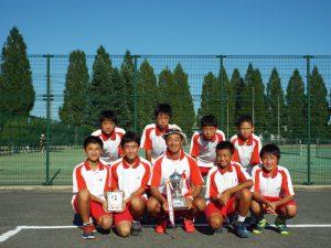 第31回福島県秋季中学生テニス選手権大会男子団体の部優勝