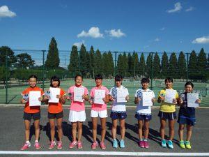第31回福島県秋季中学生テニス選手権大会女子ダブルス入賞者