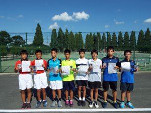 第31回福島県秋季中学生テニス選手権大会男子ダブルス入賞者