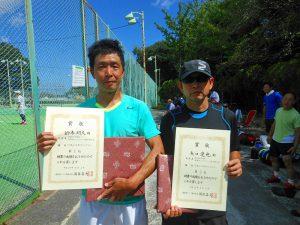 第38回中尾杯福島県シングルステニス選手権大会35歳以上男子シングルスの部入賞者
