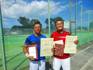 第38回中尾杯福島県シングルステニス選手権大会55歳以上男子シングルスの部入賞者