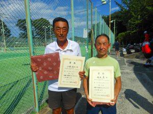第38回中尾杯福島県シングルステニス選手権大会60歳以上男子シングルスの部入賞者