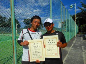 第38回中尾杯福島県シングルステニス選手権大会一般男子シングルスの部入賞者