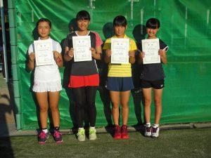 第6回福島空港秋季選抜ジュニアシングルステニス選手権大会女子入賞者