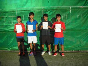 第6回福島空港秋季選抜ジュニアシングルステニス選手権大会男子入賞者
