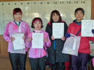 第44回福島県ダブルステニス選手権大会一般の部40歳以上女子入賞者