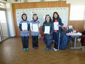 第44回福島県ダブルステニス選手権大会一般の部50歳以上女子入賞者