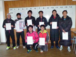 第44回福島県ダブルステニス選手権大会一般の部一般男子入賞者