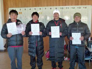 第44回福島県ダブルステニス選手権大会一般の部35歳以上男子入賞者