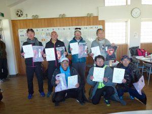 第44回福島県ダブルステニス選手権大会一般の部40歳、50歳以上男子入賞