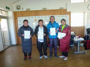 第44回福島県ダブルステニス選手権大会一般の部60歳以上男子入賞者