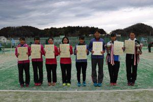 第44回福島県ダブルステニス選手権大会ジュニアの部女子入賞者