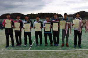 第44回福島県ダブルステニス選手権大会ジュニアの部男子入賞者