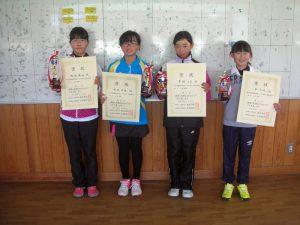 第37回福島県春季選抜ジュニアシングルス選手権大会U12女子入賞者