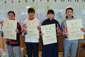 第37回福島県春季選抜ジュニアシングルス選手権大会U16女子入賞者