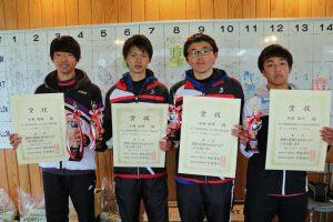 第37回福島県春季選抜ジュニアシングルス選手権大会U18男子入賞者