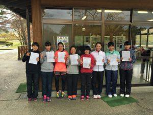 第35回福島県春季ジュニアダブルステニス選手権大会U16女子ダブルス入賞者