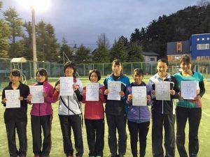 第35回福島県春季ジュニアダブルステニス選手権大会U18女子ダブルス入賞者