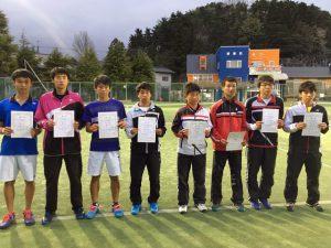 第35回福島県春季ジュニアダブルステニス選手権大会U18男子ダブルス入賞者