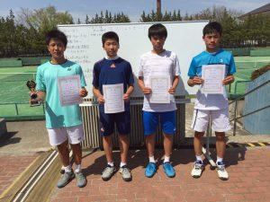 第35回福島県春季ジュニアシングルステニス選手権大会U16男子シングルス入賞者