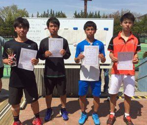 第35回福島県春季ジュニアシングルステニス選手権大会U18男子シングルス入賞者