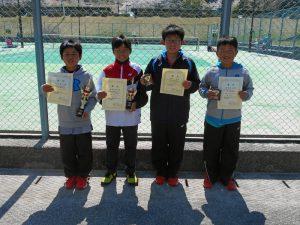 第32回福島県春季小学生テニス選手権大会男子シングルス入賞者