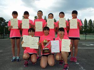 第32回福島県春季中学生テニス選手権大会団体の部女子優勝