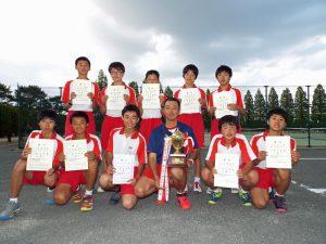 第32回福島県春季中学生テニス選手権大会団体の部男子優勝
