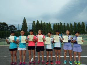 第32回福島県春季中学生テニス選手権大会女子ダブルスの部入賞者