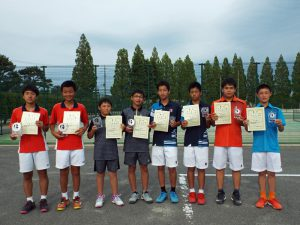 第32回福島県春季中学生テニス選手権大会男子ダブルスの部入賞者