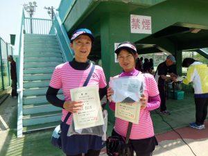 第60回オノヤ杯兼福島県春季ダブルステニス選手権大会40歳以上女子優勝