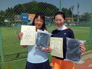 第60回オノヤ杯兼福島県春季ダブルステニス選手権大会45歳以上女子優勝