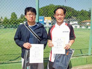 第60回オノヤ杯兼福島県春季ダブルステニス選手権大会45歳以上男子優勝