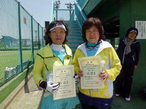 第60回オノヤ杯兼福島県春季ダブルステニス選手権大会50歳以上女子優勝