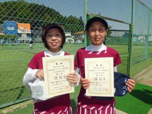 第60回オノヤ杯兼福島県春季ダブルステニス選手権大会55歳以上女子優勝
