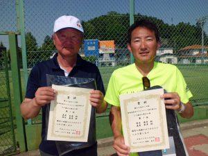 第60回オノヤ杯兼福島県春季ダブルステニス選手権大会55歳以上男子優勝