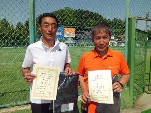 第60回オノヤ杯兼福島県春季ダブルステニス選手権大会60歳以上男子優勝