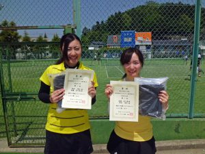 第60回オノヤ杯兼福島県春季ダブルステニス選手権大会一般女子優勝
