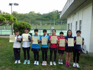 第35回福島県春季ジュニアテニス選手権大会U12女子ダブルス入賞者