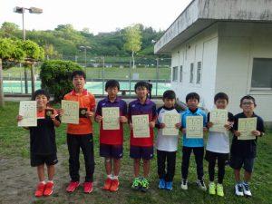 第35回福島県春季ジュニアテニス選手権大会U12男子ダブルス入賞者