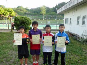 第35回福島県春季ジュニアテニス選手権大会U12男子シングルス入賞者