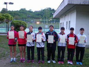 第35回福島県春季ジュニアテニス選手権大会U14女子ダブルス入賞者